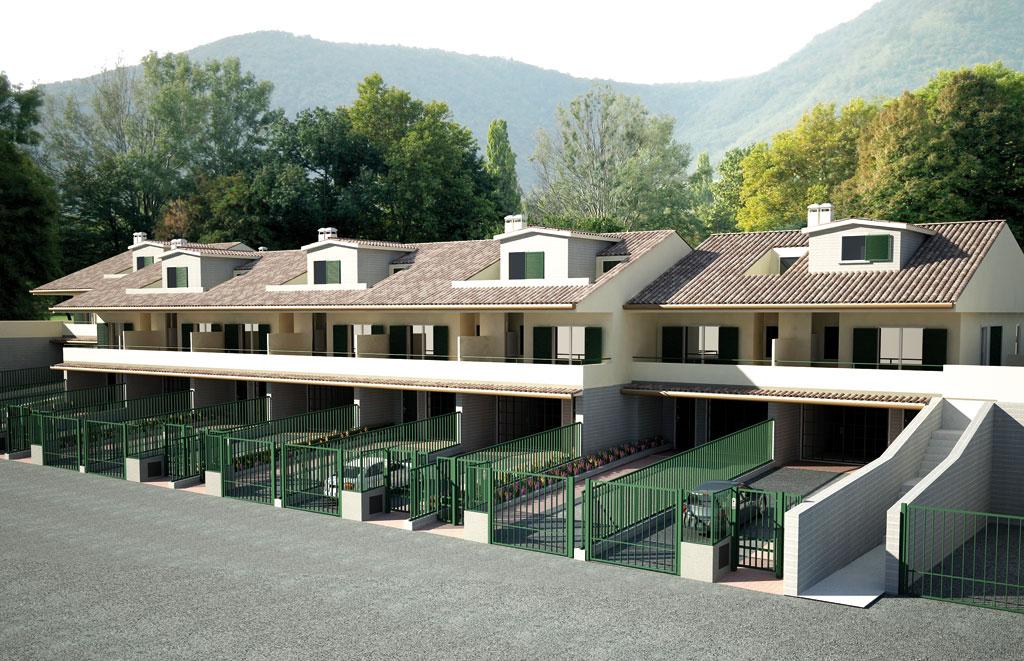 Il condominio orizzontale villette a schiera belmonte for Progetto ville moderne nuova costruzione
